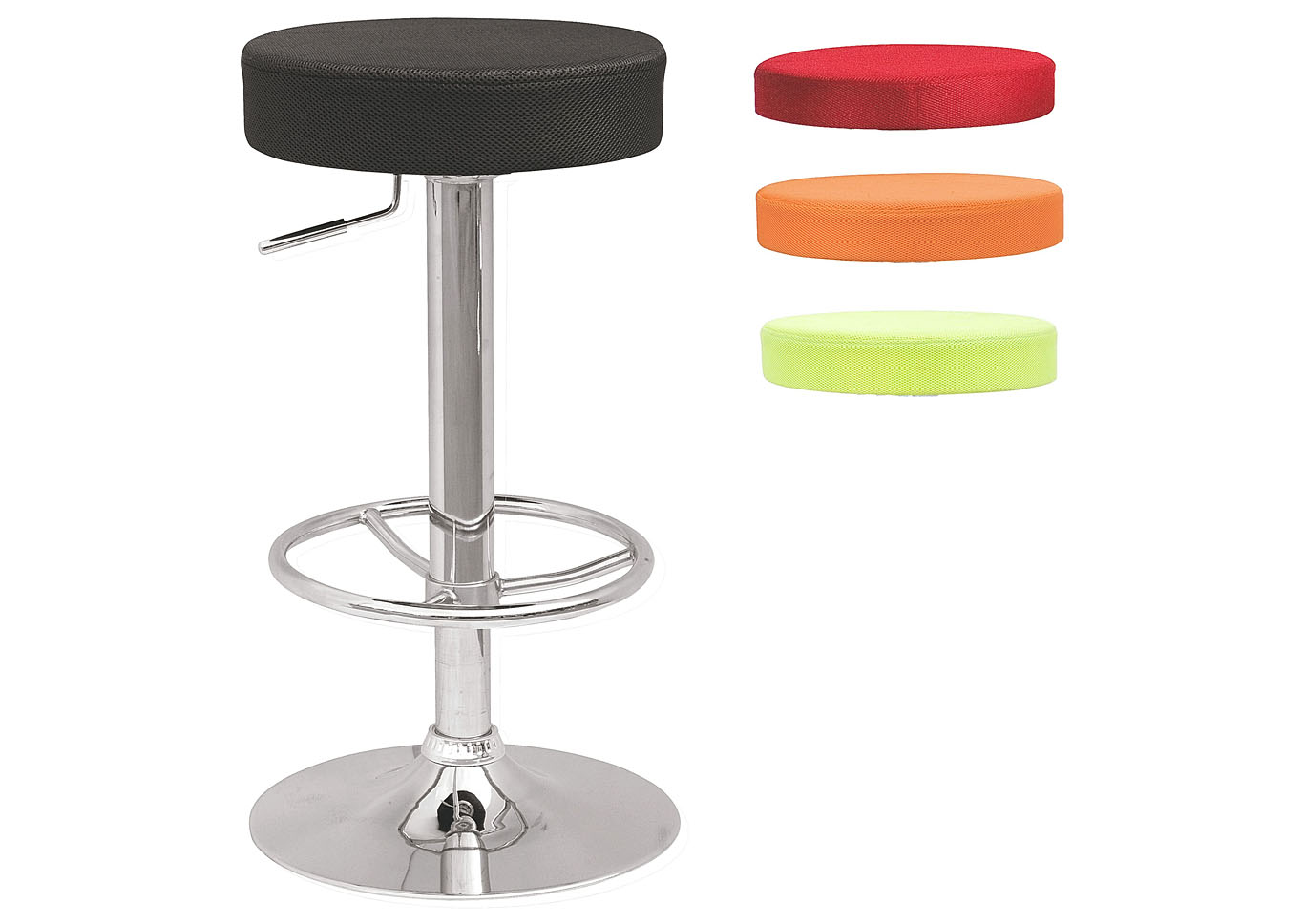 Multicolor Pneumatic-Adjustable Swivel Stool w/ 3 Extra Color Covers,Chintaly Imports
