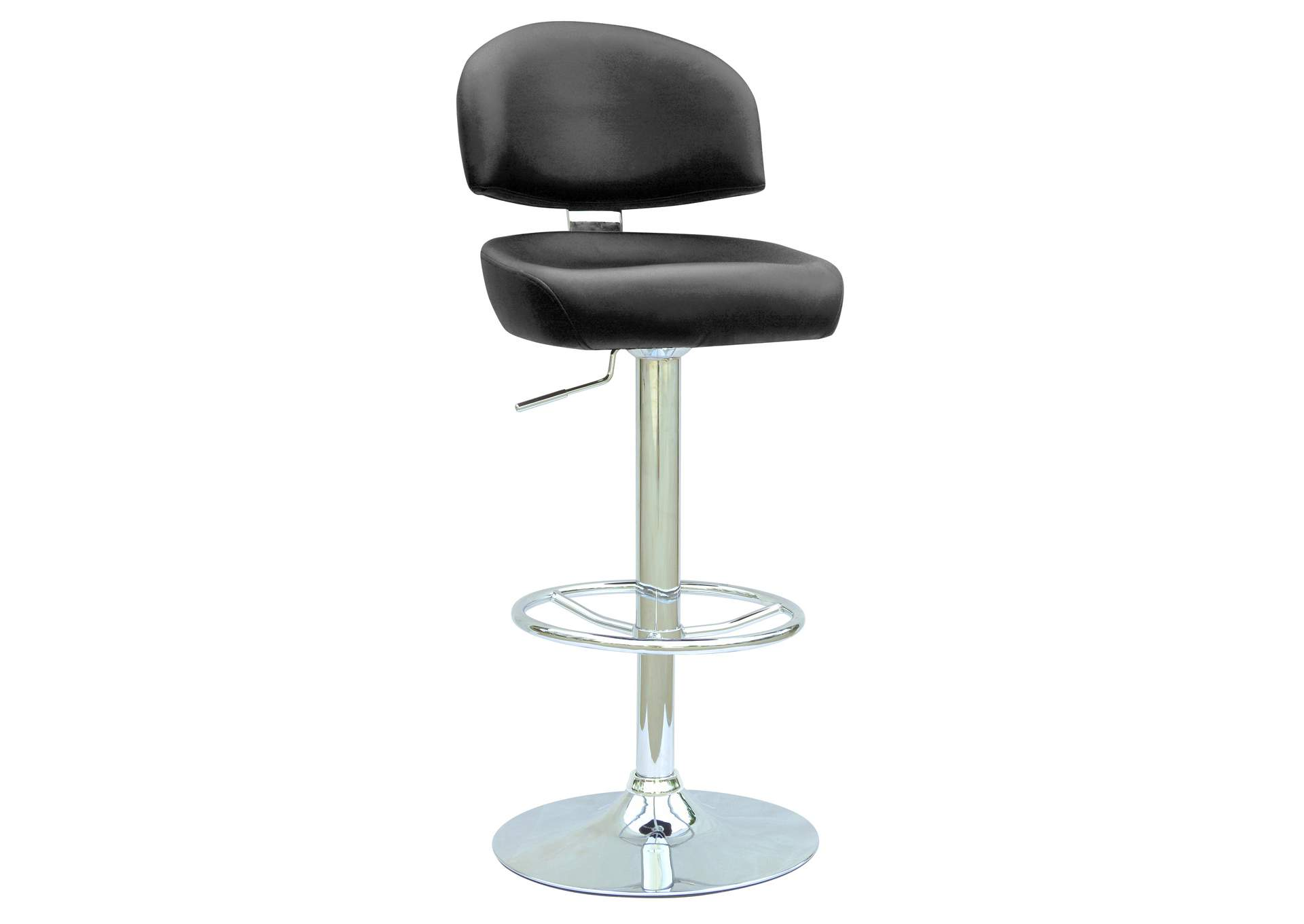 Black Pneumatic Gas Lift Adjustable Height Swivel Stool,Chintaly Imports