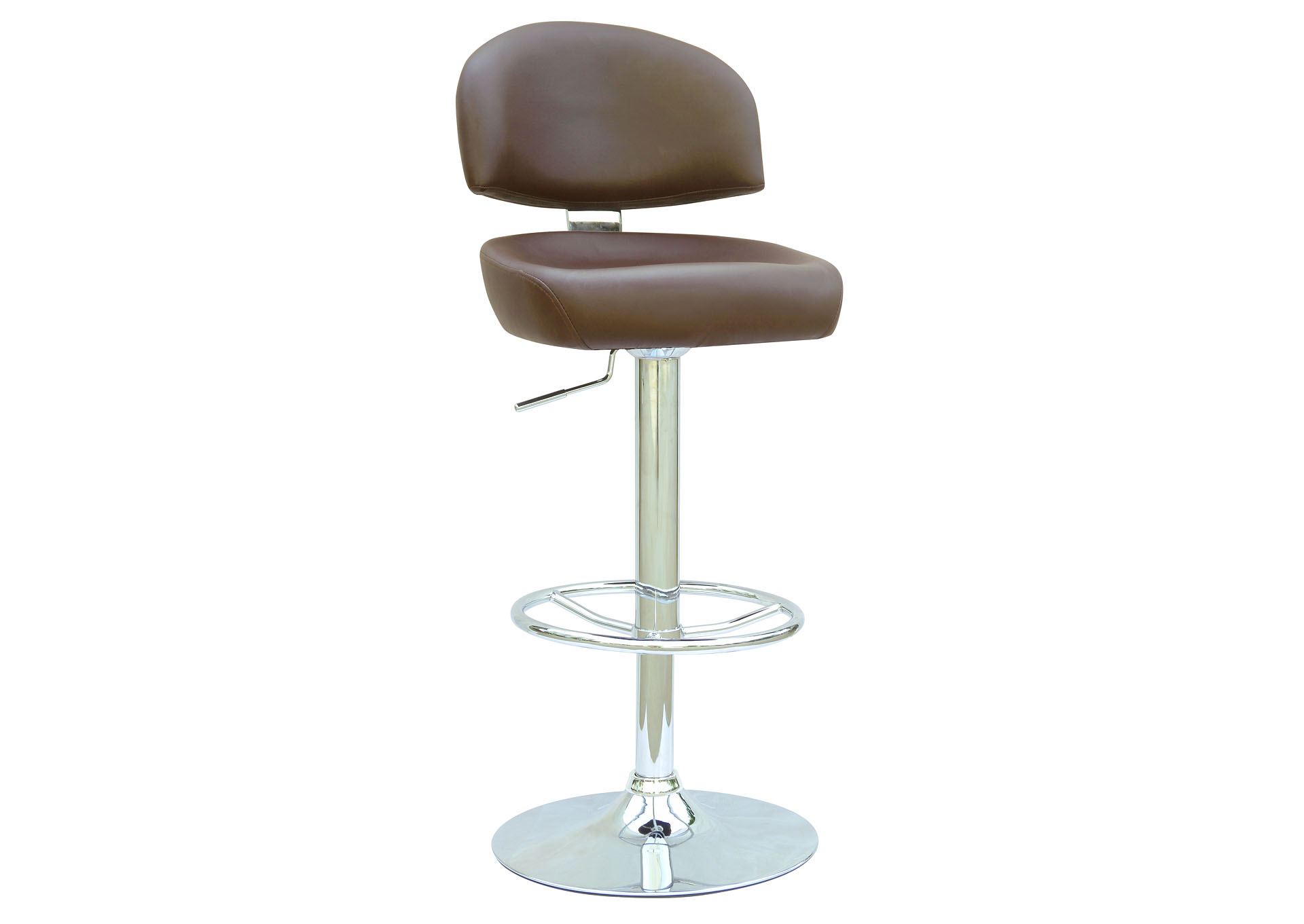 Brown Pneumatic Gas Lift Adjustable Height Swivel Stool,Chintaly Imports