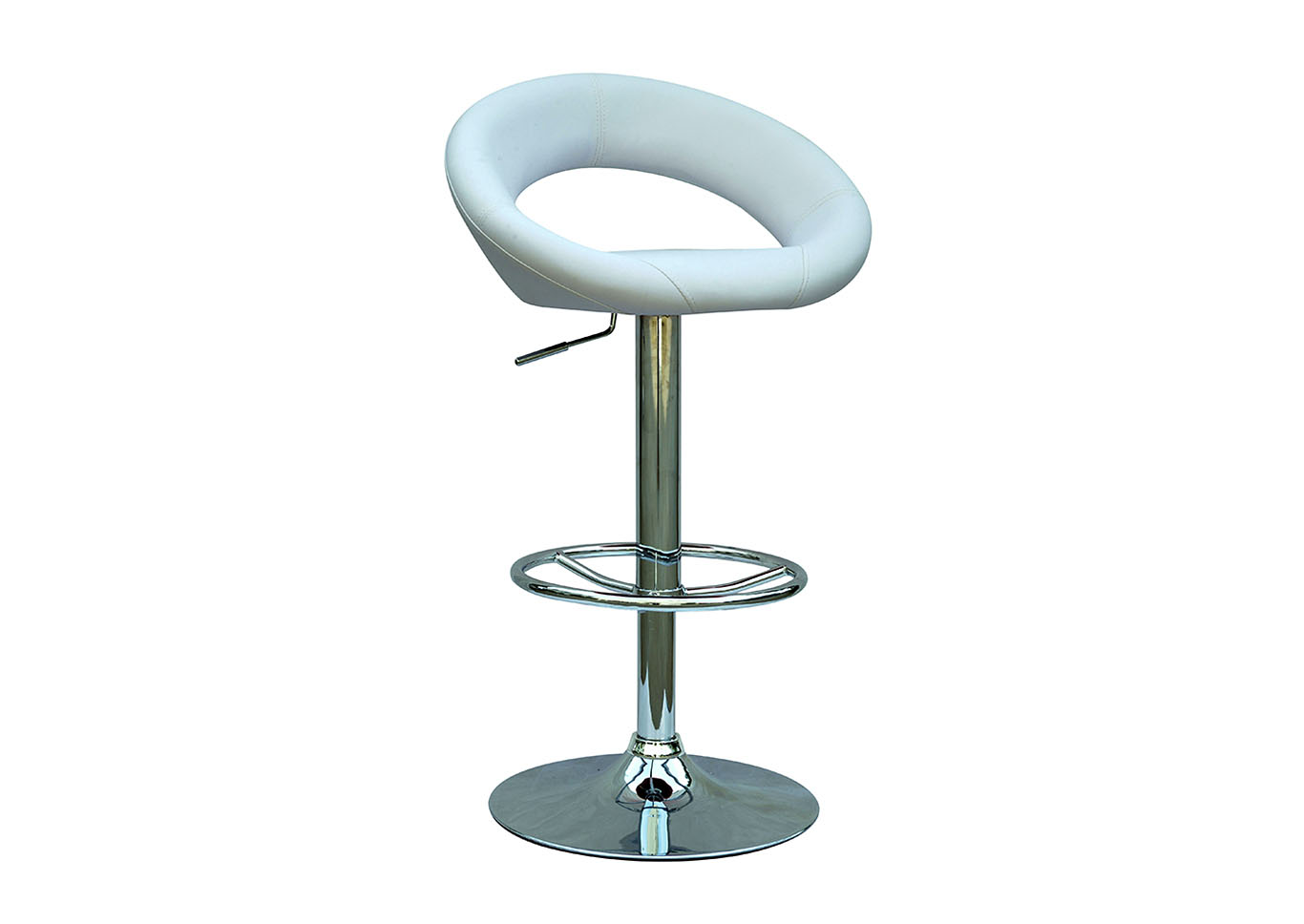 White Pneumatic Adjustable Swivel Stool,Chintaly Imports