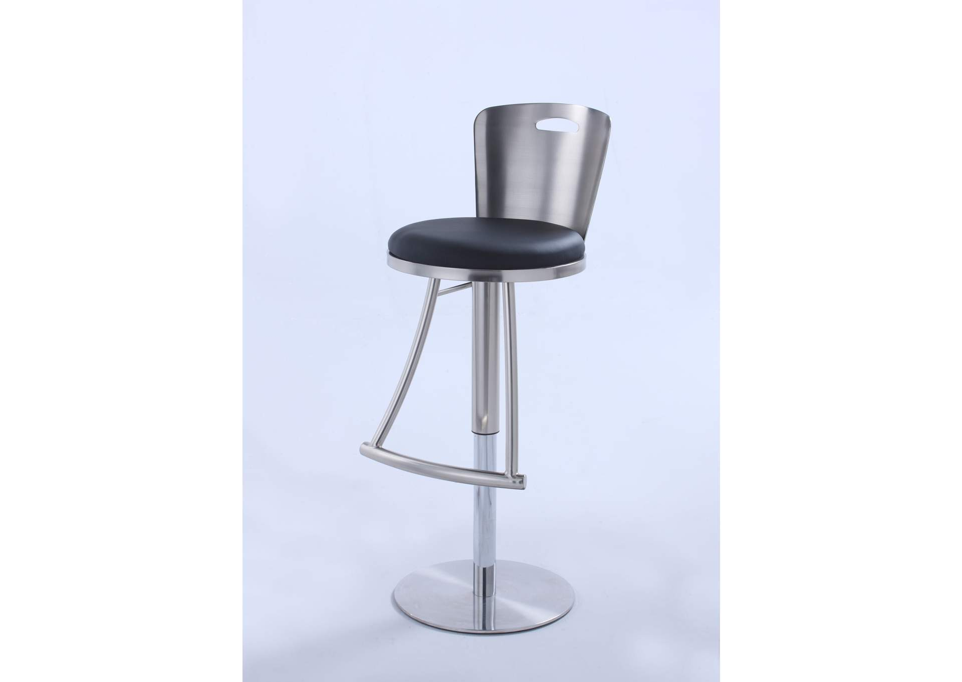 Nickel Metal-Back Adjustable Height Stool,Chintaly Imports