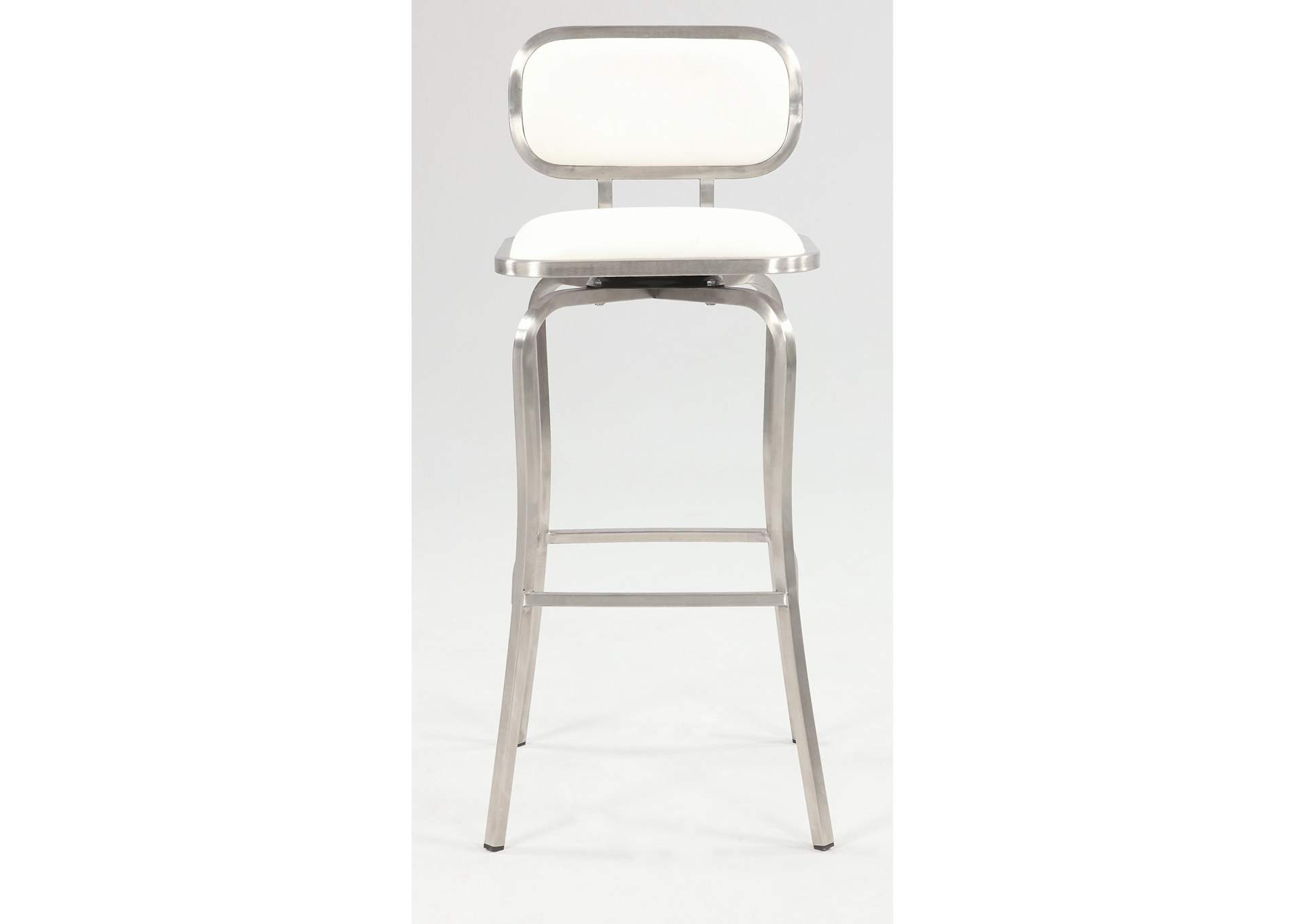 White Swivel Bar Stool,Chintaly Imports