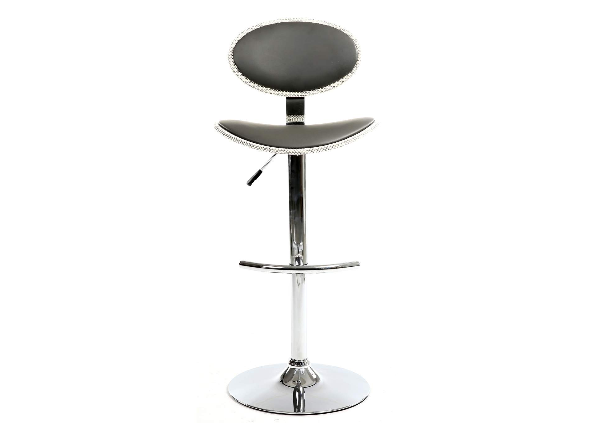 Grey Wood Back & Seat Pneumatic Stool,Chintaly Imports