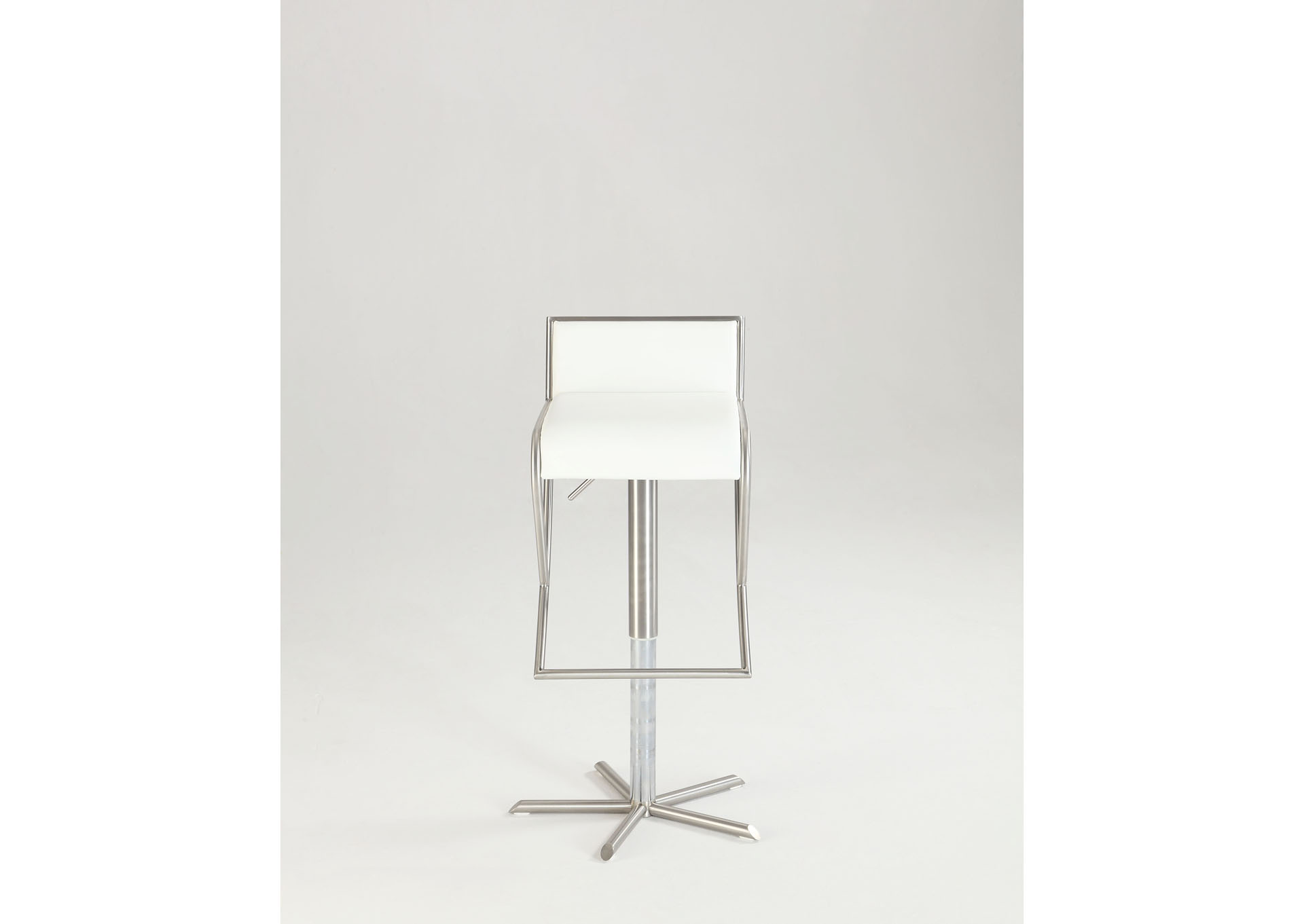 White Pneumatic Gas Lift Swivel Stool,Chintaly Imports