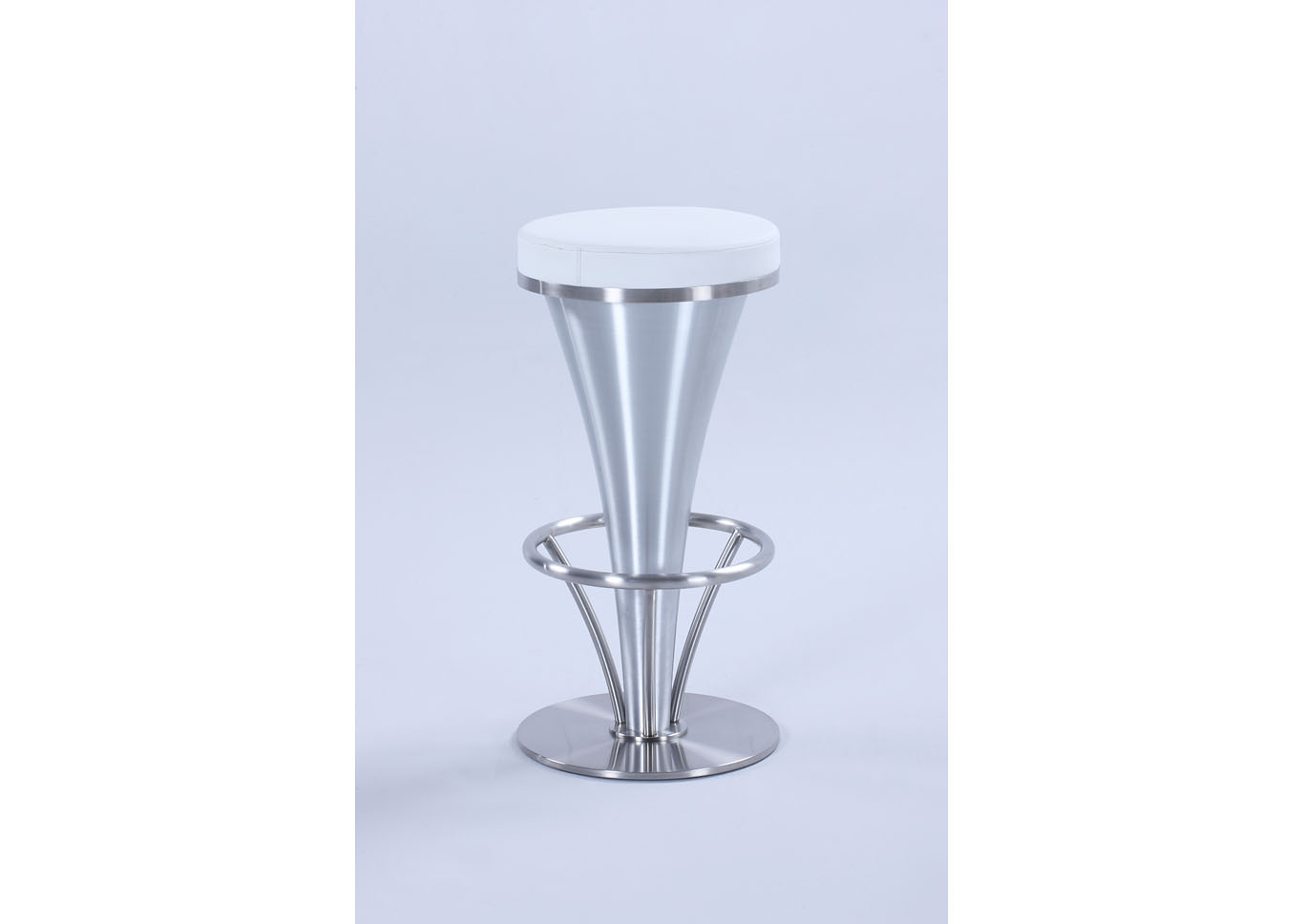 "White ""V"" Pedestal Counter Stool,Chintaly Imports"