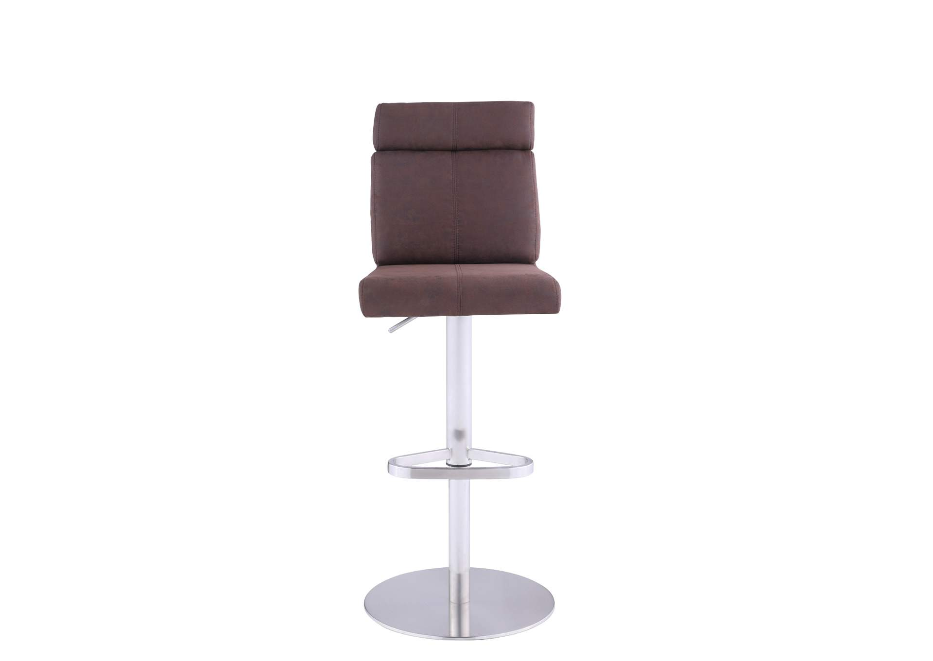 Brown Plush Seat Adjustable Stool,Chintaly Imports
