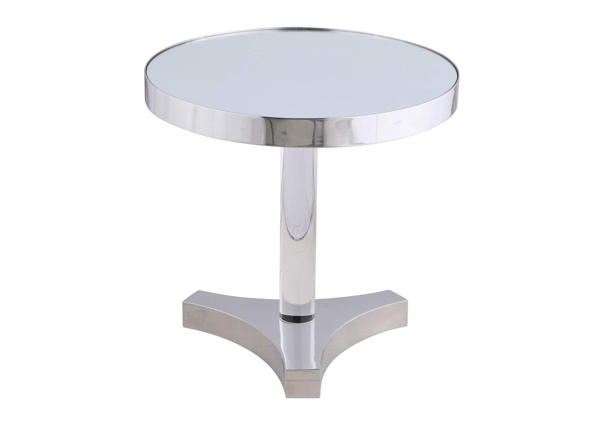 Lamp Table w/ Mirror Accent,Chintaly Imports