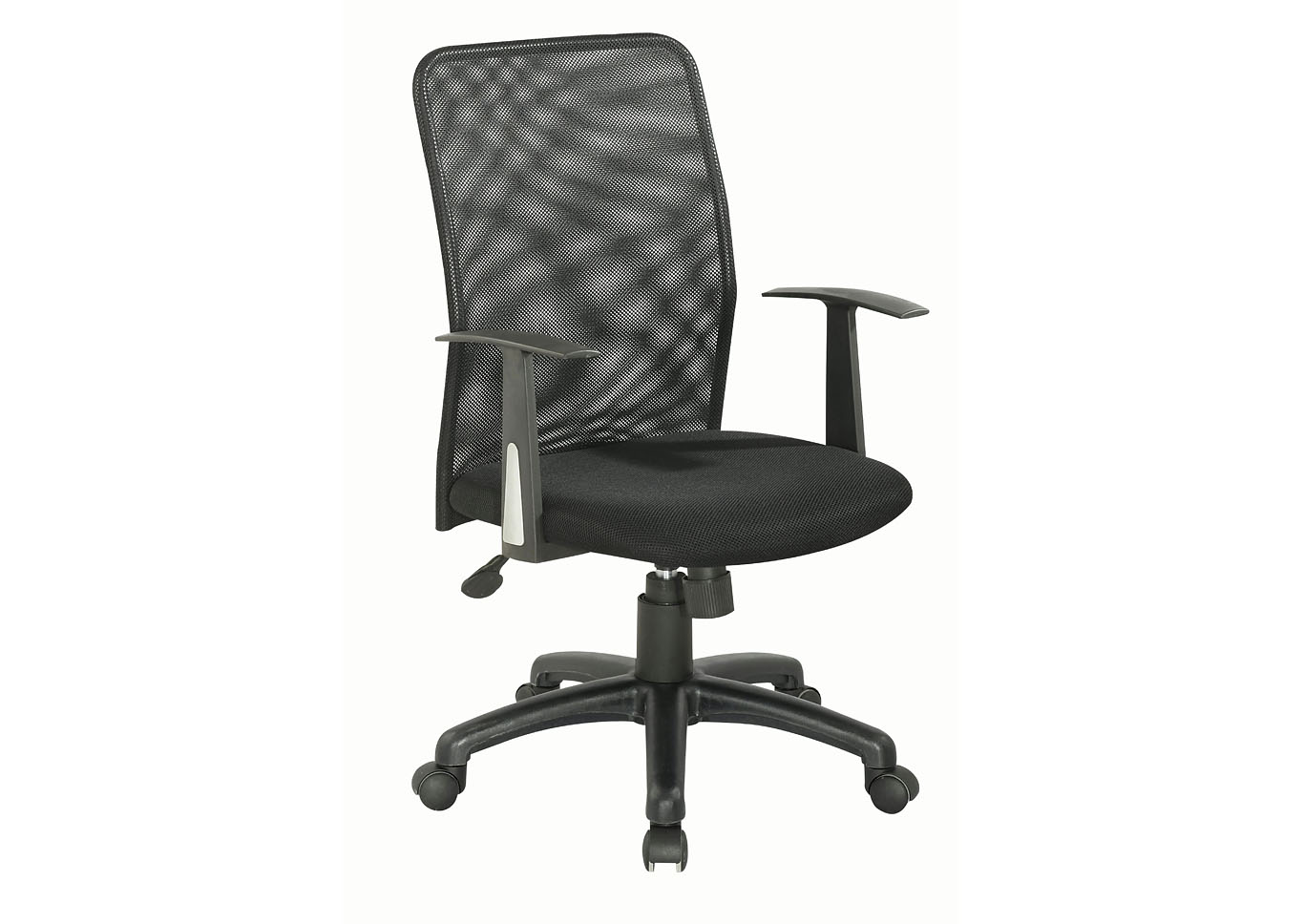 Black Ergonomic Computer Chair W/ Mesh Back,Chintaly Imports
