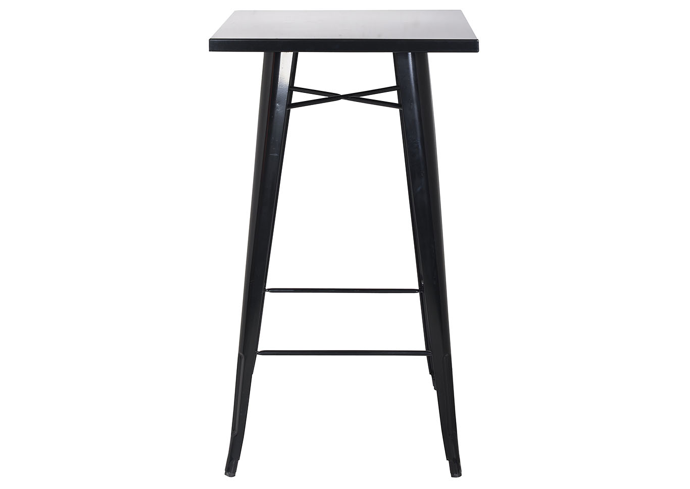 Black Galvanized Steel Bar Table,Chintaly Imports
