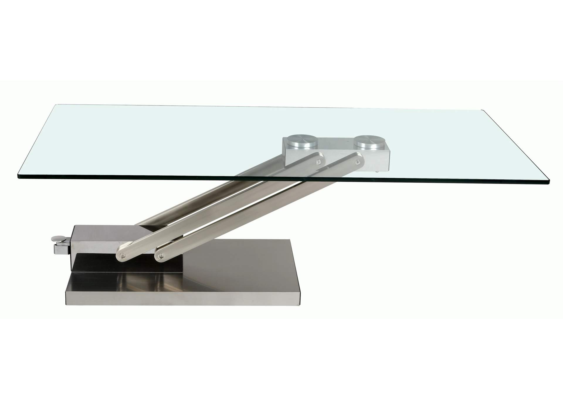Contemporary Adjustable Height Cocktail Table,Chintaly Imports