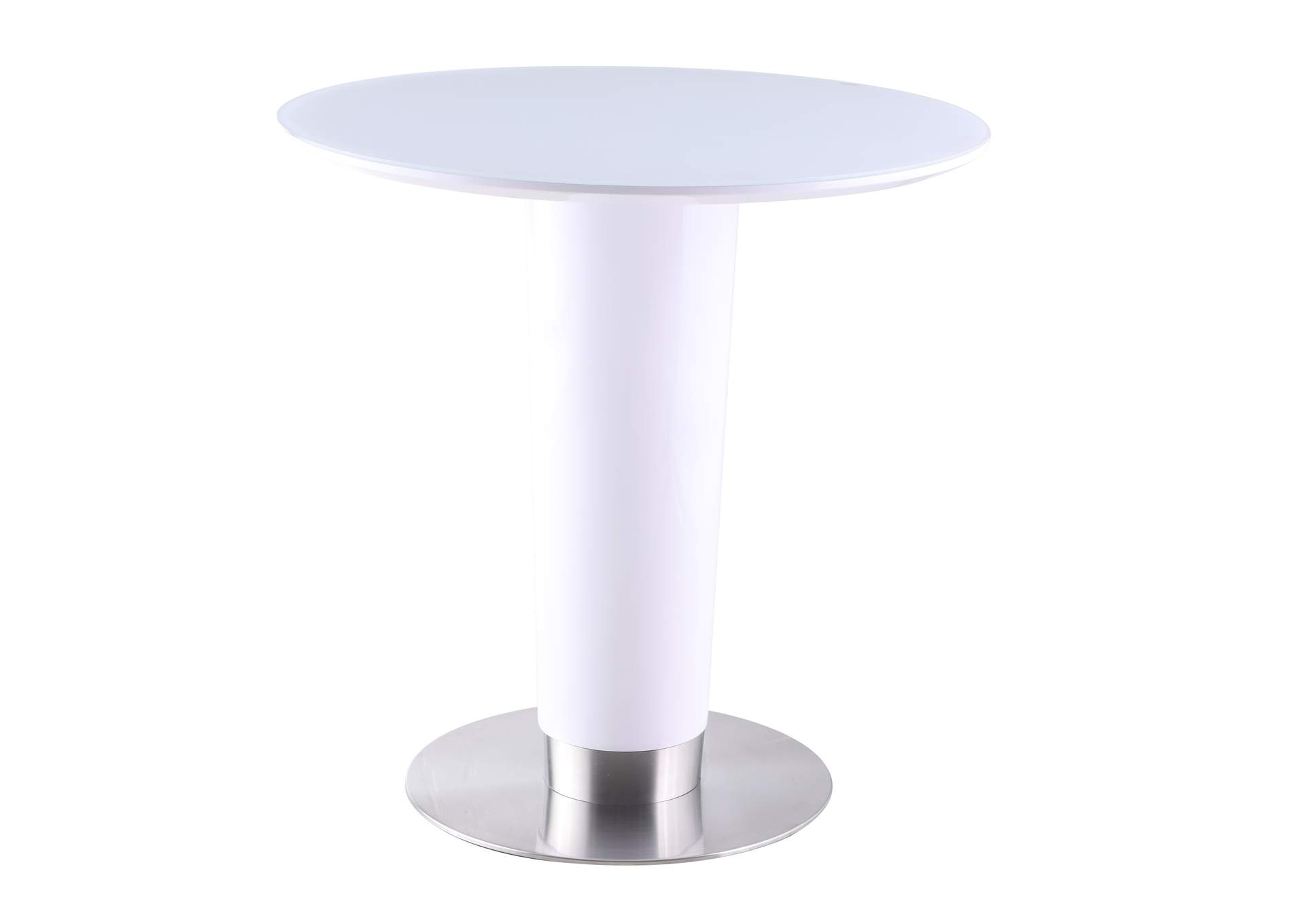 Agnes White Counter Height Dining Table,Chintaly Imports