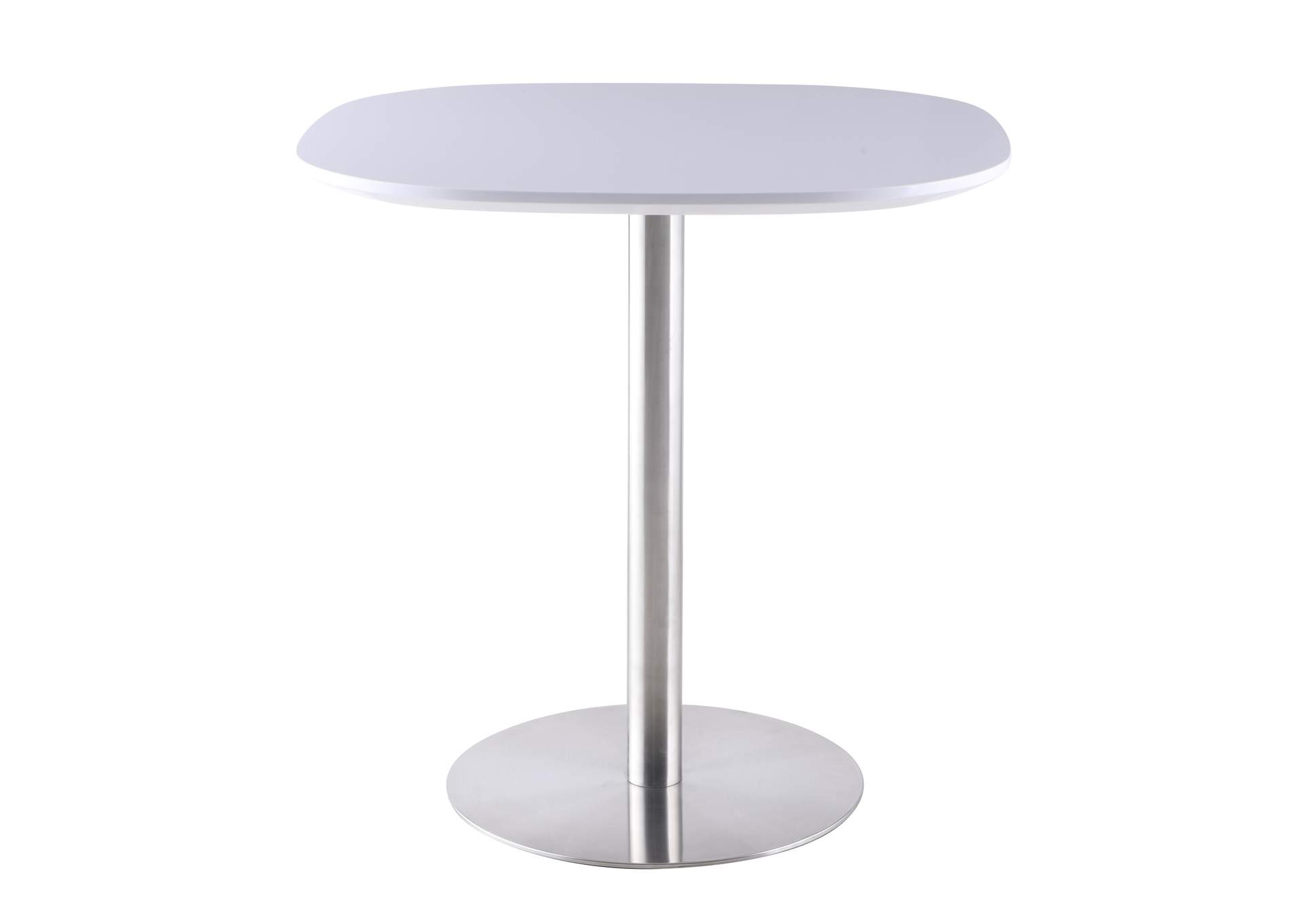 Aimee White Counter Height Dining Table,Chintaly Imports