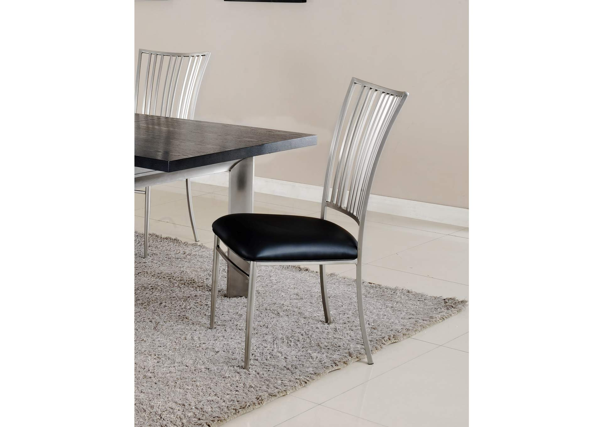 Ashtyn Nickel Fan-Back Side Chair (Set of 2),Chintaly Imports