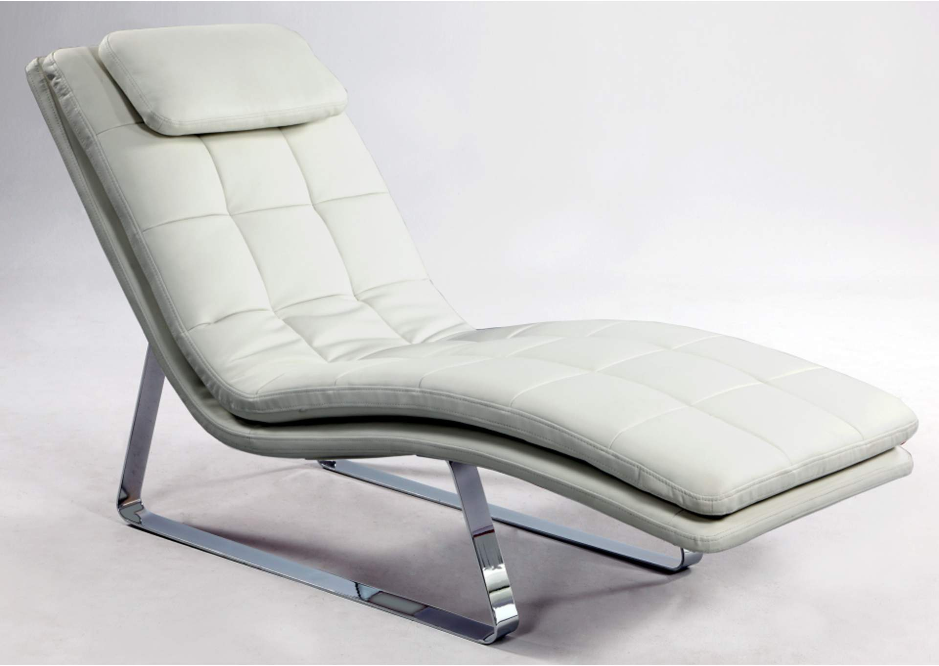 Corvette Contemporary  Lounge Chair  w/ Chrome Legs,Chintaly Imports