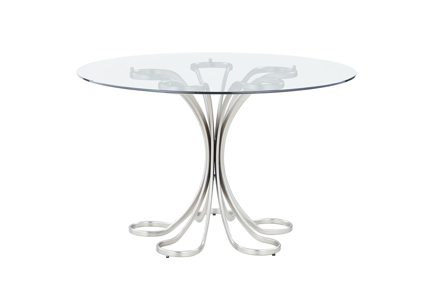 Desiree White Glass Dining Table,Chintaly Imports