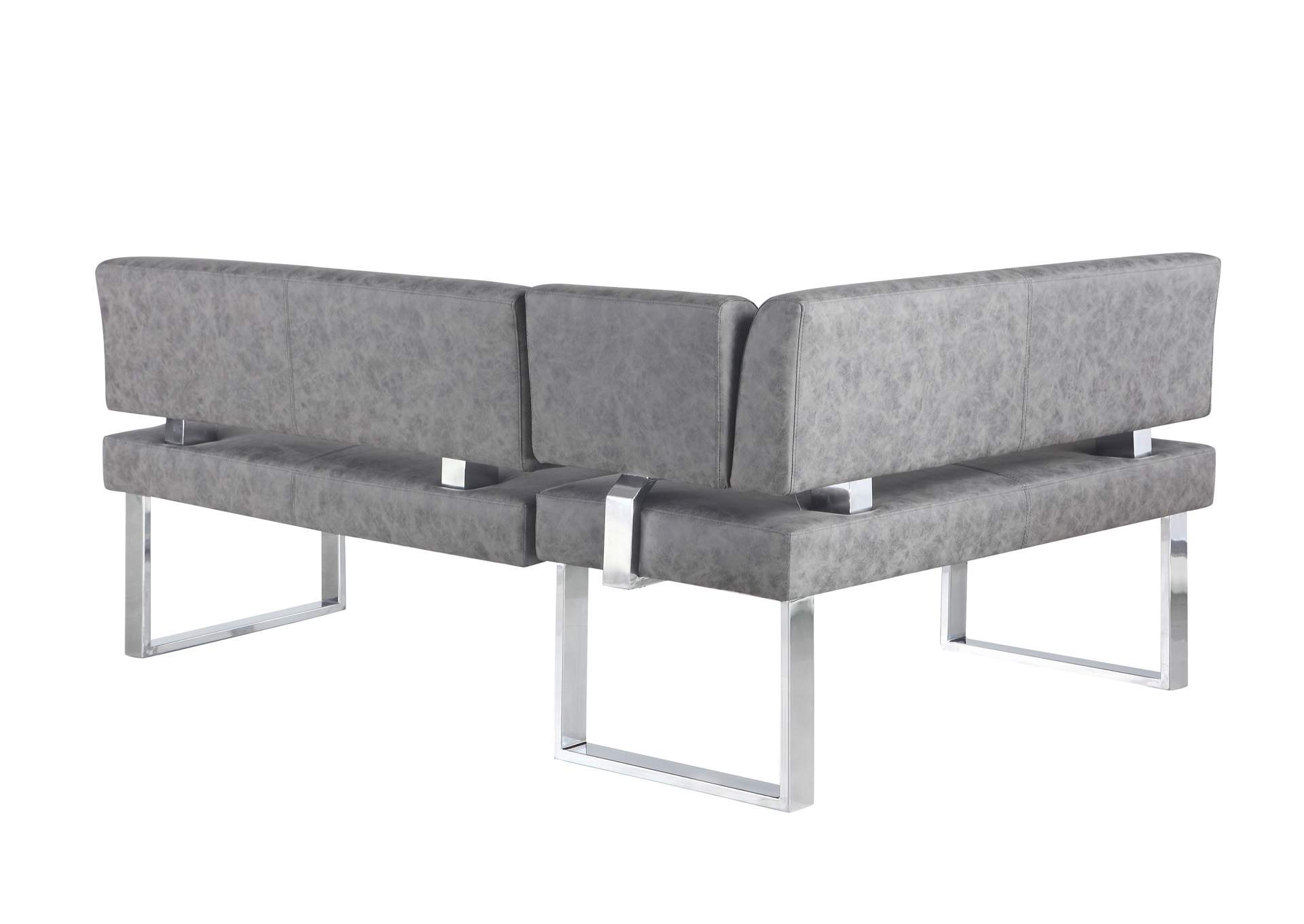 Genevieve Grey Gray Upholstered Bench,Chintaly Imports