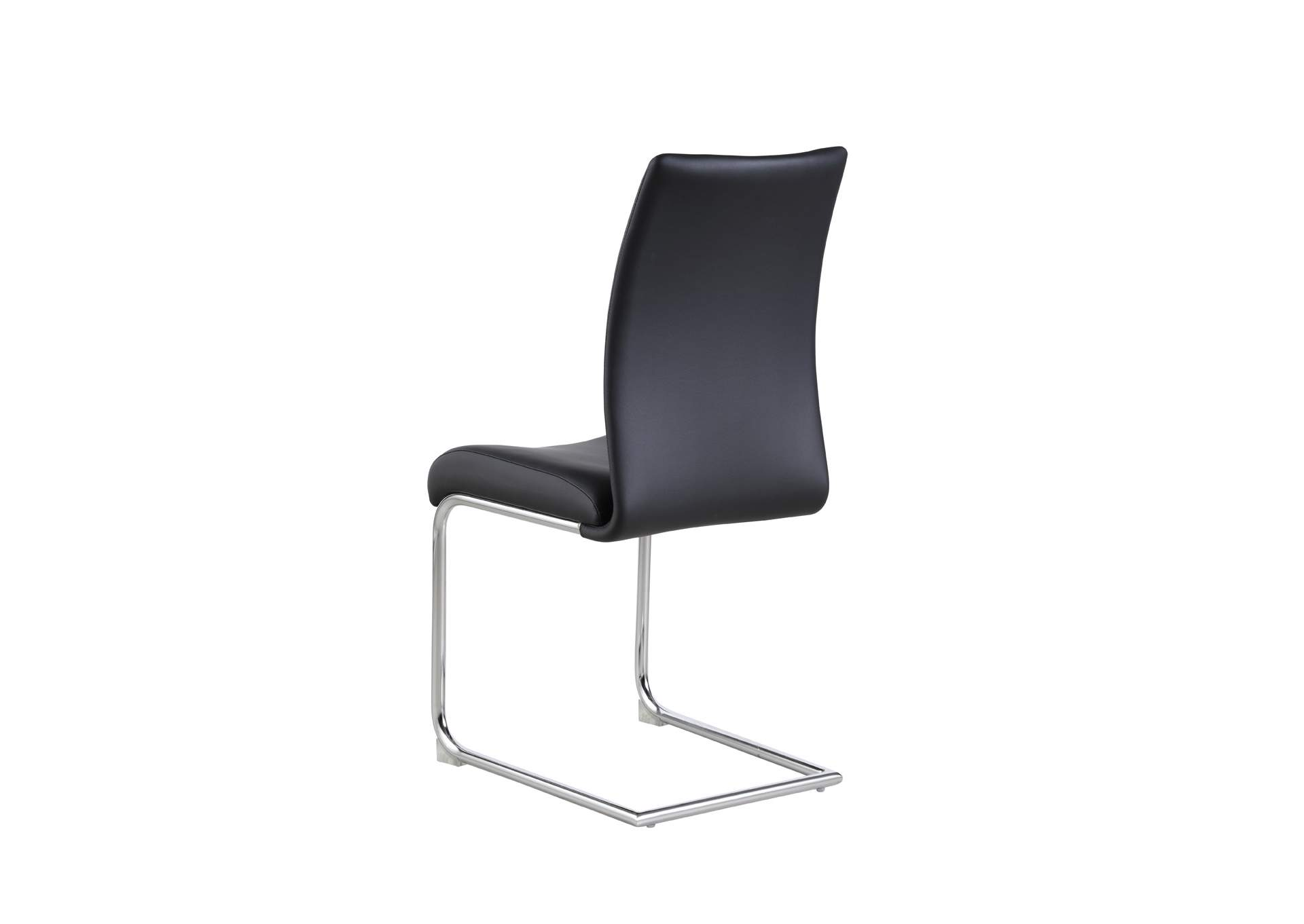 Jane Chrome Modern Contour Back Cantilever Side Chair [Set of 4],Chintaly Imports