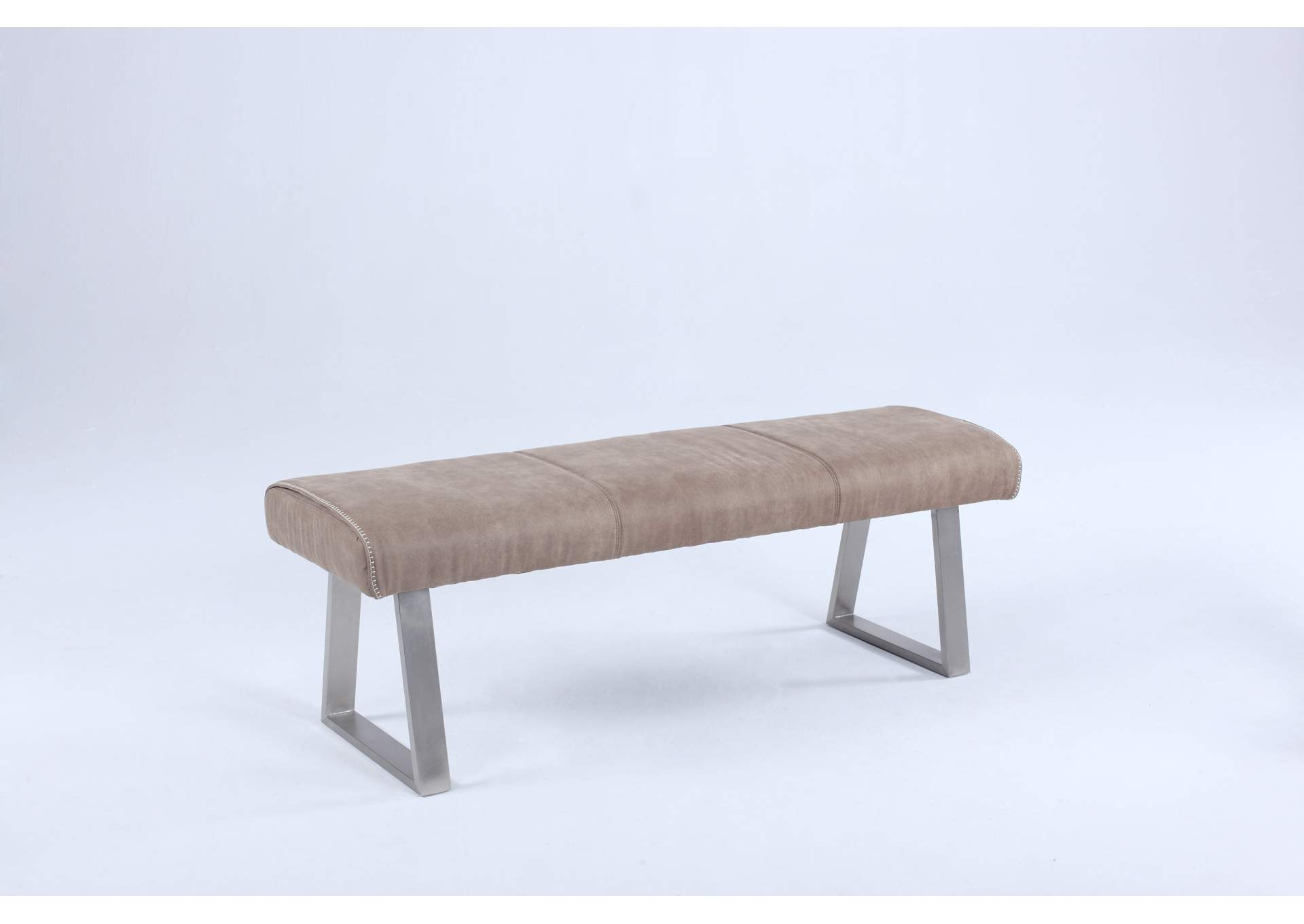 Kalinda Grey Bench with Highlight Stitching,Chintaly Imports