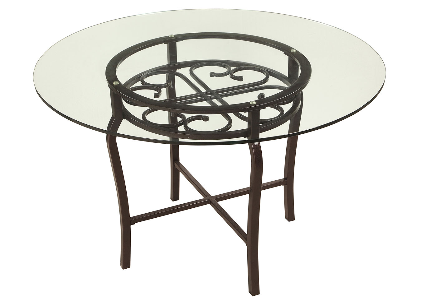 Lily Round Glass Table,Chintaly Imports