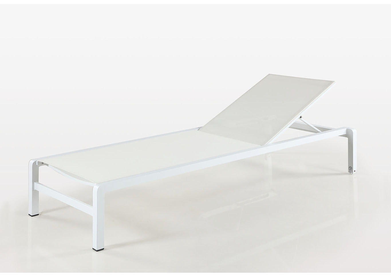 Malibu Matte White Outdoor UV Resistant Lounge Chair,Chintaly Imports