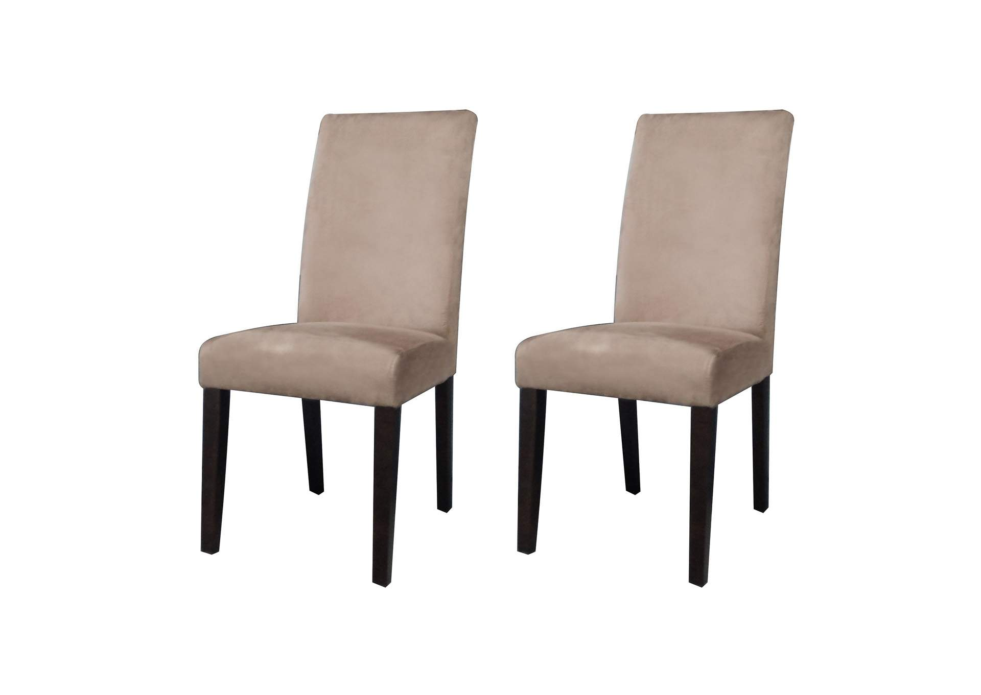 Maria Satin Espresso Parson Side Chair (Set of 2),Chintaly Imports