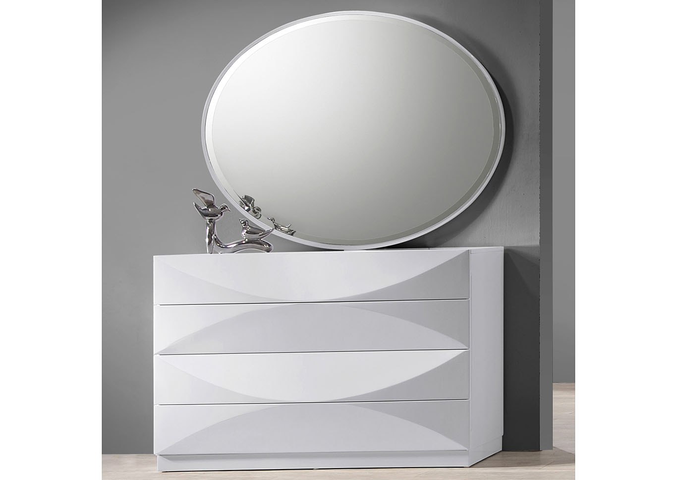Paris Bedroom Accent Dresser w/Mirror,Chintaly Imports