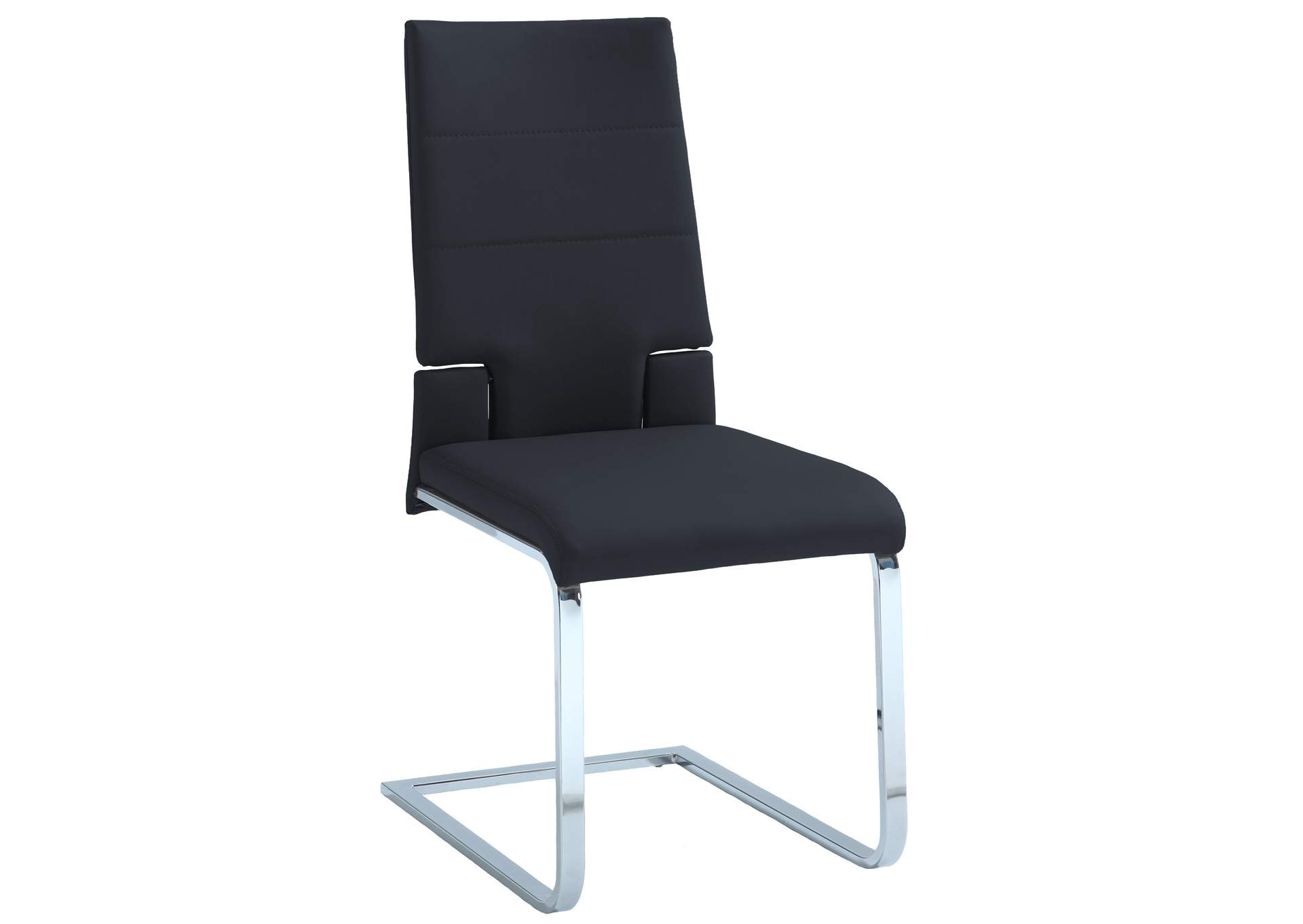 Savannah Black Motion Back Cantilever Side Chair (Set of 2),Chintaly Imports