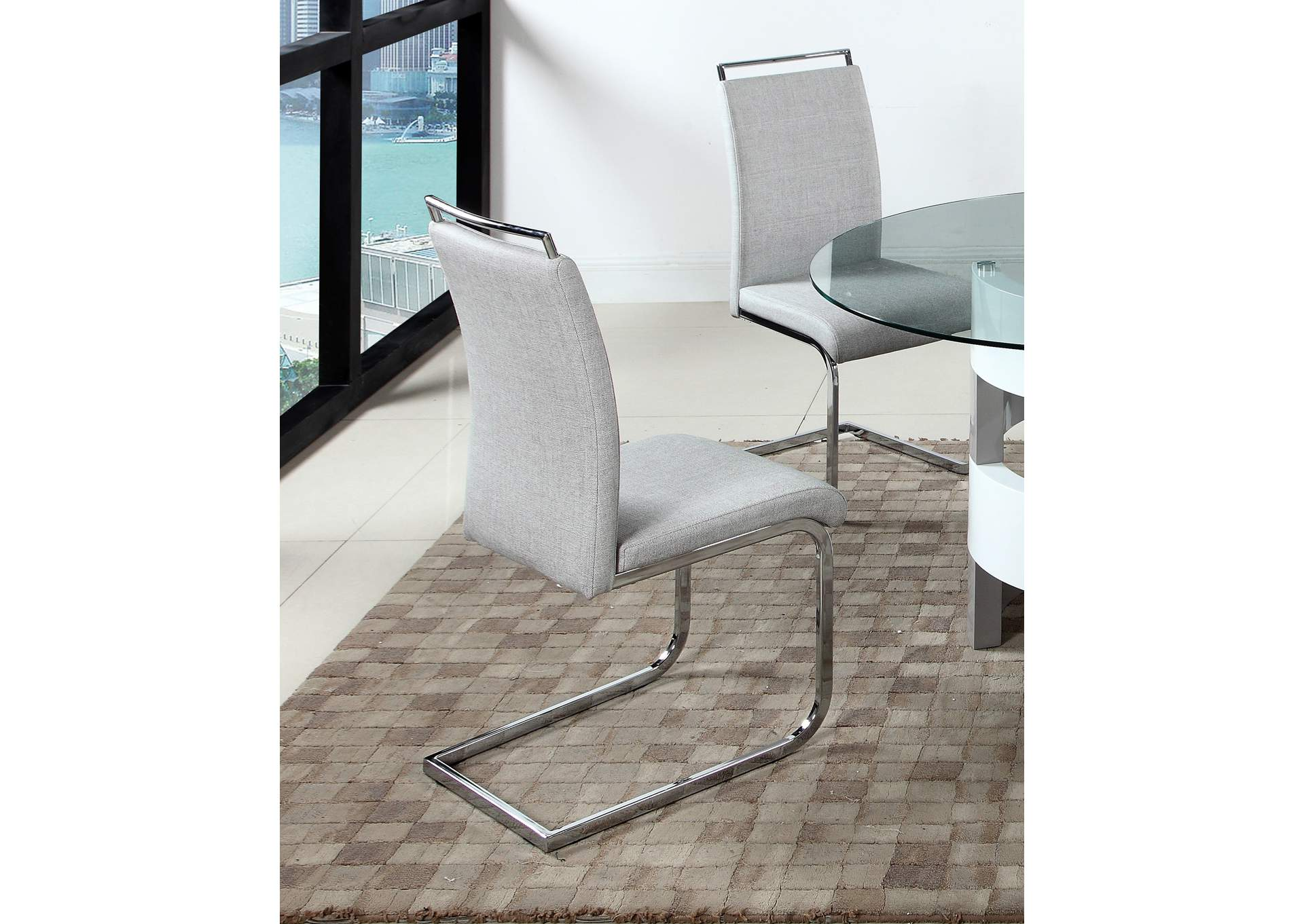 Sunny Grey Handle Back Cantilever Side Chair (Set of 4),Chintaly Imports