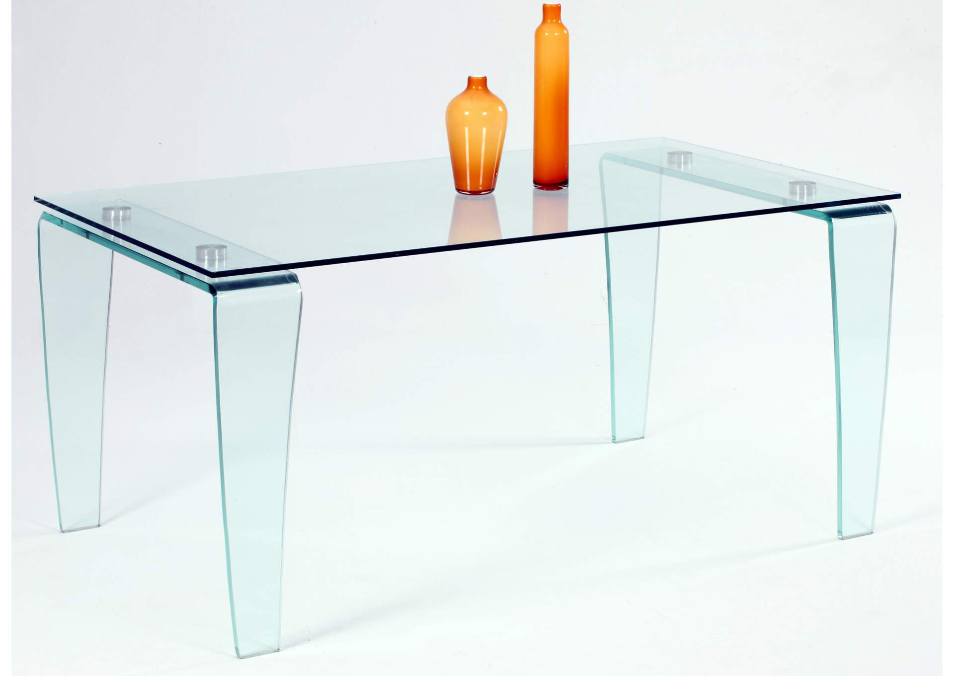 Vera Clear All-Glass Dining Table,Chintaly Imports