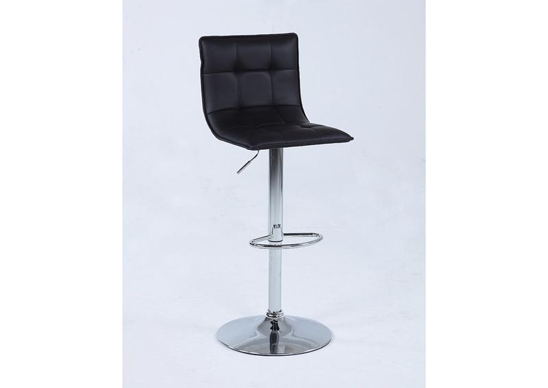 Image for Black Pneumatic Memory Swivel Stool w/Tufted Back