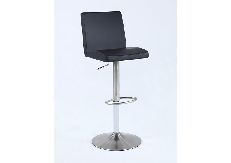 Black Pneumatic Swivel Low Back Stool