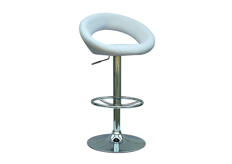 White Pneumatic Adjustable Swivel Stool