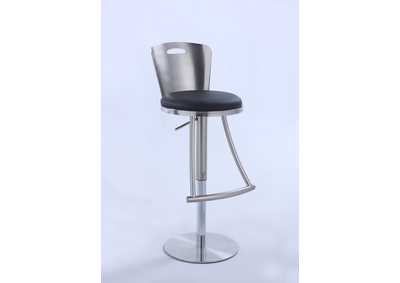 Nickel Metal-Back Adjustable Height Stool