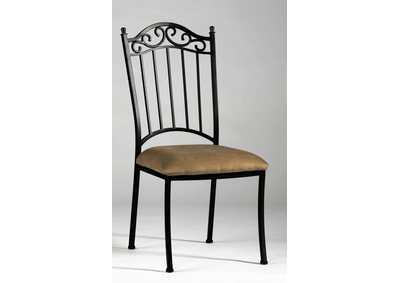 Image for Antique Taupe Wrought Iron Side Chair (Set of 4)