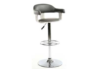 Grey Wooden Back & Seat Pneumatic Stool
