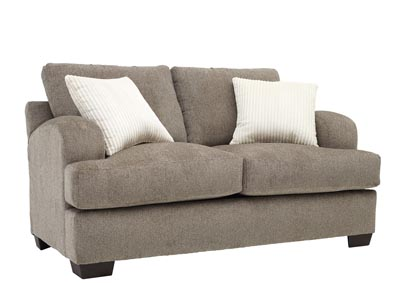 Image for Walnut Scooped Arm Love Seat