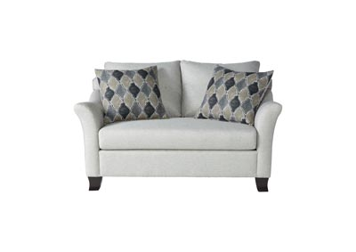 Image for Light Grey Traditional Love Seat w/ English Arms