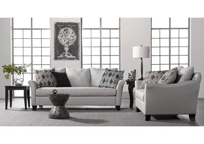 Image for Light Grey Traditional Sofa & Loveseat