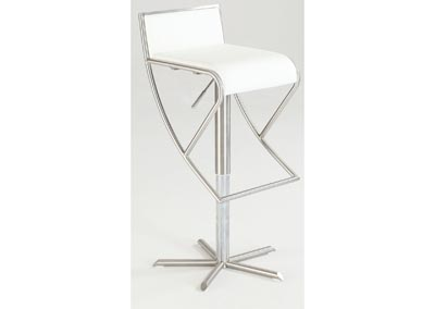White Pneumatic Gas Lift Swivel Stool