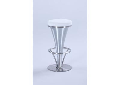 "White ""V"" Pedestal Counter Stool"