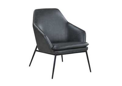Image for Dark Olive Accent Chair w/ Steel Frame