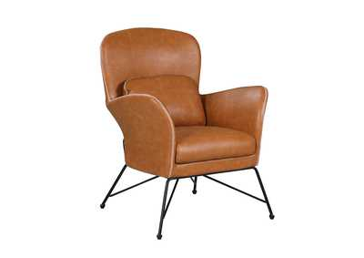 Image for Orange Accent Chair w/ Steel Frame