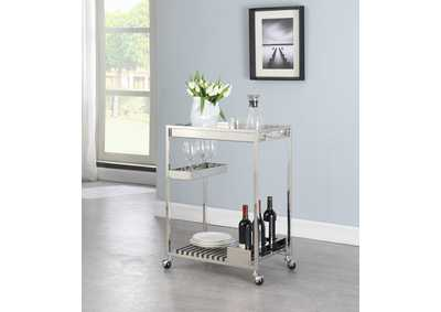 Image for Contemporary Stainless Steel Tea Cart
