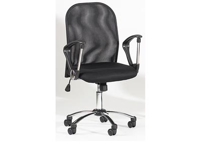 Image for Chrome Height-Adjustable Swivel Computer Chair W/ Mesh Back