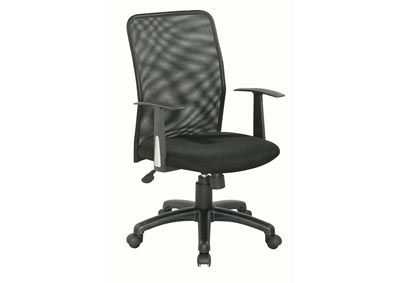 Black Ergonomic Computer Chair W/ Mesh Back