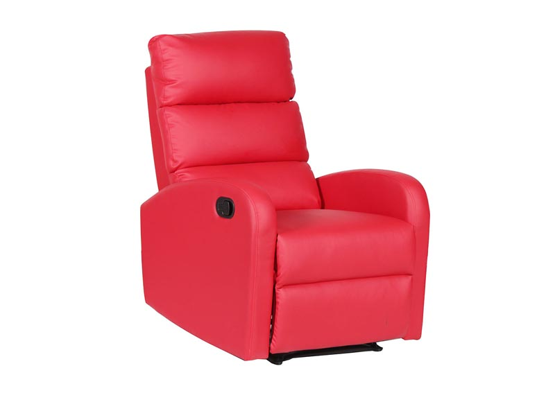Image for Red Manual Adjustable Recliner