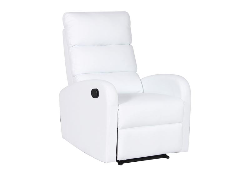 Image for White Manual Adjustable Recliner