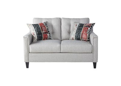 Image for Beige Traditional Love Seat w/ Tufted Back