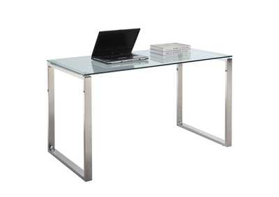 Image for Clear & Chrome Desk w/ Glass Top