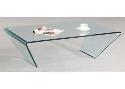 Rectangle Bent Glass Cocktail Table